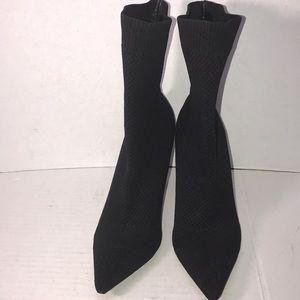 Super Cute Zara Trafaluc Heeled Sock Boots size 9